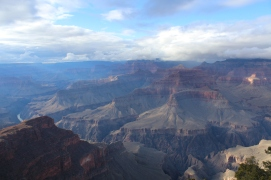 The clouds lifted to bring out the best colors, Grand Canyon National Park.