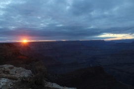 The sun goes down on the canyons, Grand Canyon National Park.