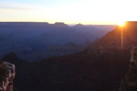 The only reason I'll get up early, sunrise at Grand Canyon National Park.