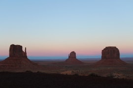 Monument Valley is the quietest place I've ever been to, and the silence goes great with desert sunsets.